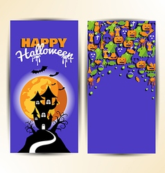 design element card or poster for halloween vector image