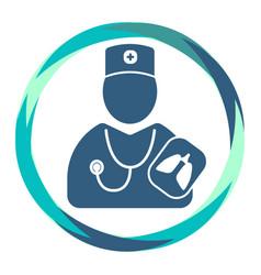 Doctor stethoscope tool healthy lungs roentgen vector