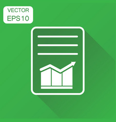 document with chart icon business concept vector image