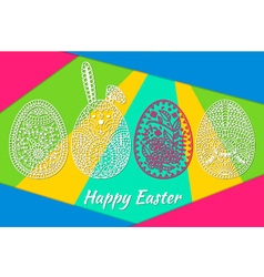 Easter pattern with eggs vector