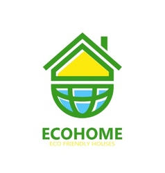 eco house logo or symbol icon vector image