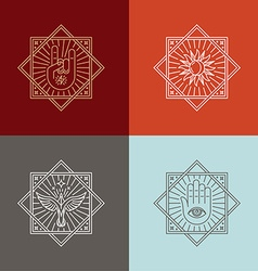 Ector tattoo concepts in trendy lnear style vector