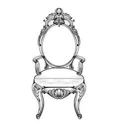 exquisite fabulous imperial baroque chairs in vector image