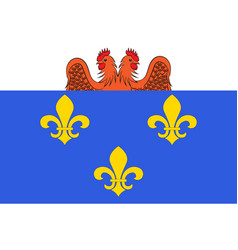 Flag of versailles in yvelines in ile-de-france vector