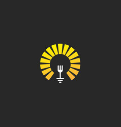 fork food sign restaurant logo vector image