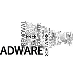free adware text background word cloud concept vector image