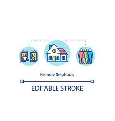 Friendly neighbors concept icon vector
