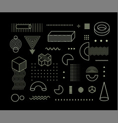 geometrical pattern elements set memphis vector image