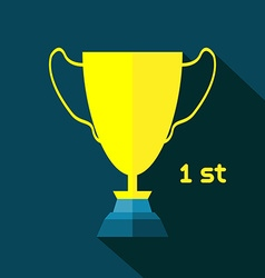 Golden Goblet Soccer Reward vector