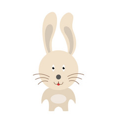 happy bunny presenting with his hand on light vector image