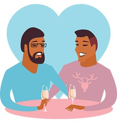 Happy gay couple vector image
