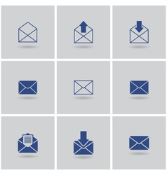 icons envelope vector image