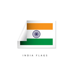 India label flags template design vector