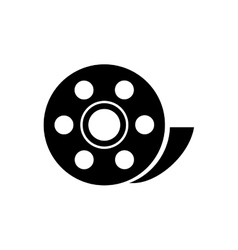Isolated film reel design vector image