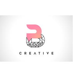 Letter b beauty logo b letter design with origami vector