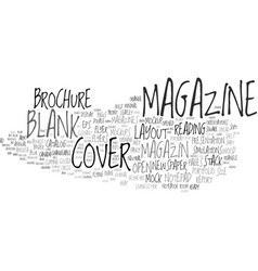 Magazin word cloud concept vector