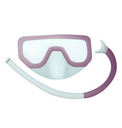 mask for swimming vector image