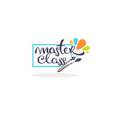 master class and creative courses hand drawn vector image