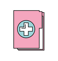Medical health record folder for wellness vector