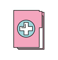 medical health record folder for wellness vector image