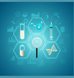 medical research vector image