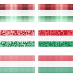 Mosaic Hungary flag set vector