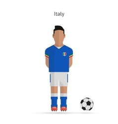 National football player Italy soccer team uniform vector image