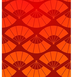 Orient fan seamless pattern vector