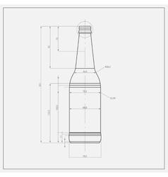 Print Of Beer Bottle vector