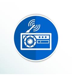 Radio icon station symbol fm antenna vector