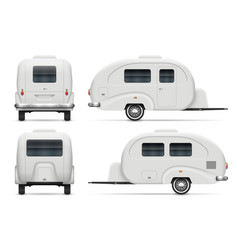 Rv trailer view from side front vector