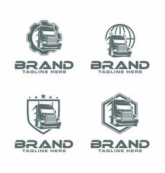 Semi truck logo vector