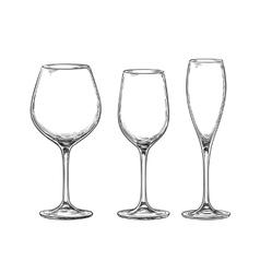 Set of empty wine glasses vector image