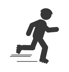 skating person pictogram icon vector image
