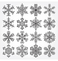 Snowflakes Christmas collection vector