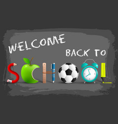 stylish back to school background vector image