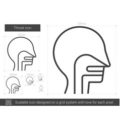 throat line icon vector image