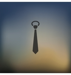 Tie icon on blurred background vector