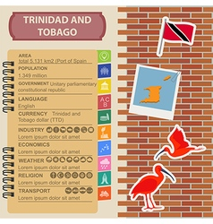 Trinidad and Tobago infographics statistical data vector