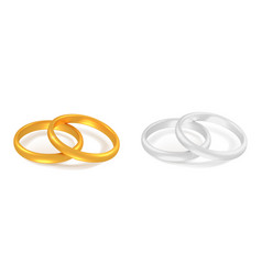 two wedding rings vector image