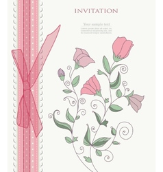 Vintage flower on background vector