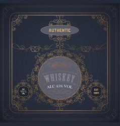 Vintage western whiskey label package vector