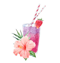 Watercolor smoothie vector