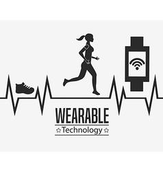 Wearable technology design vector