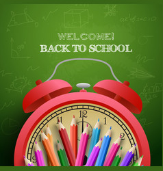 Welcome to school background vector