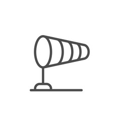 windsock line icon vector image