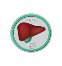 World Hepatitis Day - July 28 Liver Gallbladder vector