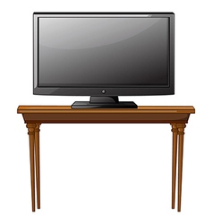 A television ona table vector image vector image