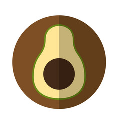 avocado fresh vegetable isolated icon vector image vector image