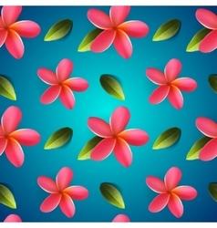 Frangipani seamless pattern Songkran Festival vector image vector image